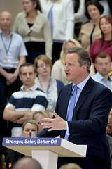 PM and George Osborne speak at B&Q Headquarters (The Prime Minister's Office) Tags: uk london europe eu pm primeminister 10downingstreet georgeosborne primeministerdavidcameron georginacoupe