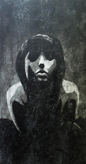 Saturnia Pyri (Christian Haupt) Tags: art monochrome painting stencil kunst acryl sprayart malerei serigrafie