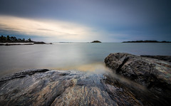 Before the storm (Mika Laitinen) Tags: ocean longexposure sea sky cloud seascape storm nature water rock suomi finland landscape europe outdoor wideangle calm shore nd serene fi helsingfors scandinavia vuosaari uusimaa uutela costline leebigstopper canon7dmarkii