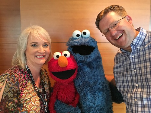 Shelly Fryer and Wesley Fryer with Elmo by Wesley Fryer, on Flickr