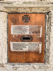 Tallinn: The Church to the Blessed Virgin with Three Hands (Jon Fitton) Tags: door wood texture church stone iron tallinn estonia hand doorway opening letterbox ee lightroom motherofgod greekcatholic harjumaakond