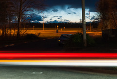 DSC_4840 (mastapeaceufd) Tags: school trees sky blur field night fence dark woods glow streetlamp chilling final nightsky striking stable radiating baseballfield carspassing finalprojectpart3