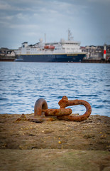 Rusting (MBDGE) Tags: sea seascape ferry canon scotland orkney alba wave outoffocus depthoffield bleu rusting nautical kirkwall northernisles canon70d cruiseliners2016