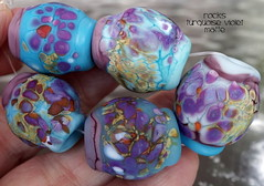 Rocks Turquoise Violet Matte (Laura Blanck Openstudio) Tags: show blue sea orange usa white abstract brick art beach glass coral festival set one beads big sand beige marine rocks colorful aqua published artist glow purple handmade stones turquoise fine arts violet lavender sienna funky jewelry lagoon pebbles kind made odd lilac earthy winner huge opaque organic kiln nuggets murano grape lampwork multicolor raku artisan matte whimsical loose frosted openstudio asymmetric ocher speckles annealed opestudiobeads