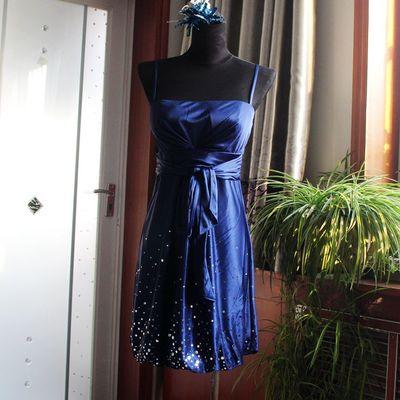Seiner ursprünglichen Handel hohe Taille schlank Gurt Kleid