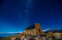 Church of the Good Shepherd (jbrambaud) Tags: winter snow church night landscape nikon moutain milkyway d3s