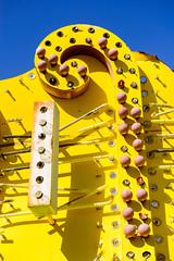 mellow yellow (Sam Scholes) Tags: neon sign las vegas yellow trip nevada vacation anniversary museum lasvegas neonsign neonsignmuseum unitedstates us