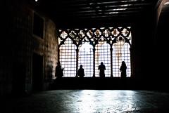 Three And A Half - Ca D'Oro, Venice (Janicskovsky) Tags: venice light italy sun building slr window silhouette museum architecture contrast grid photography nikon gallery pattern mesh highcontrast tourist dslr venezia studytour cadoro d80 nikond80
