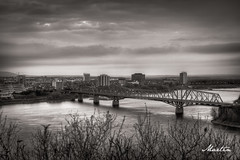 Alexandra Bridge (martisak) Tags: bridge sky blackandwhite ontario canada water sepia river ottawa hdr ottawariver lightroom alexandrabridge