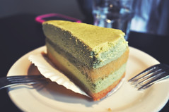 green tea tiramisu (loiapop) Tags: seattle washington tiramisu greentea hiroki greenteatiramisu