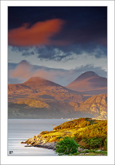 Beinn Alligin Sunset (Maciej - landscape.lu) Tags: sunset mountain mountains water season evening scotland spring twilight europe seasons sundown unitedkingdom dusk highland loch landforms goldenhour springtime nightfall torridon westerross vernalequinox geographie lochtorridon 70200mmf28g beinnalligin vernalseason sonydslra900 maciejbmarkiewicz 57333485n5461862w