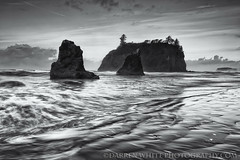 Black Rubies (Darren White Photography) Tags: blackandwhite nature clouds sunrise landscape natural scenic pacificocean beaches pacificnorthwest ripples washingtonstate rubybeach seastacks olympiccoast experiencewa darrenwhite outdoorphotographer washingtonlandscapes northwestlandscapes darrenwhitephotography