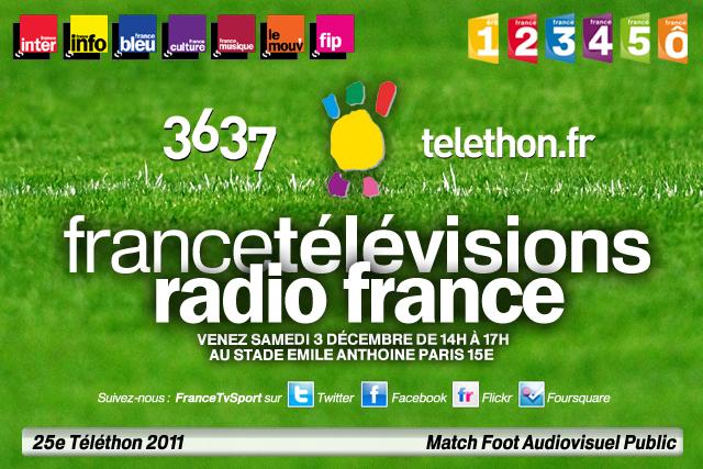 Téléthon 2011 Match de Foot Audiovisuel Public