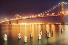 What the water gave me (pixelmama) Tags: sanfrancisco california longexposure pier pilings gettyimages hcs oaklandbaybridge colorplay whatthewatergaveme florenceandthemachine clichsaturday betheoverflow lettheonlysound