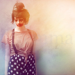 A Clowns Demise (ItsEmma) Tags: light portrait selfportrait green girl make up self square 50mm braces clown emma makeup spot spots spotty pj week clowns bun pyjamas squarecrop 52 demise selfiesquared itsemma emmareid squareexpand aclownsdemise