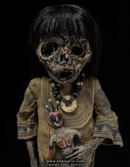 Mummy Art Doll Sculpture  M42 (Shain Erin) Tags: sculpture art mixedmedia ooak fineart tribal artdoll mummy oddity mummydoll worldart shainerin