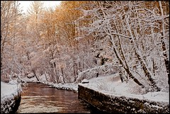 Akerselva (Joaaso) Tags: city winter sunlight snow cold nature sunshine oslo norway by river norge vinter natur sn akerselva kulde elv solskinn sollys canonef85mmf18usm nysn canoneos5dmarkii