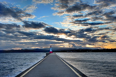A Friendly Light (Northern Straits Photo) Tags: sunset lighthouse canada bc wind britishcolumbia victoria vancouverisland storms ogdenpointbreakwater northernstraitsphotography