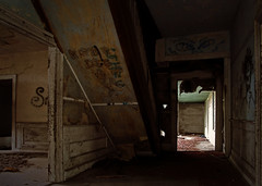 defaced (History Rambler) Tags: old house abandoned home rural graffiti south northcarolina historic plantation antebellum federal wainscoting edgecombecounty diggingthroughthearchivesagain