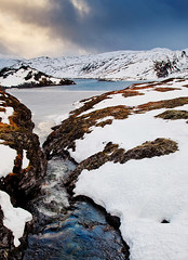 Autumn Freeze (John & Tina Reid) Tags: autumn snow cold norway vik frozenwater mountainpass mountaintop travelphotography sognfjord jonreid tinareid httpnomadicvisioncom
