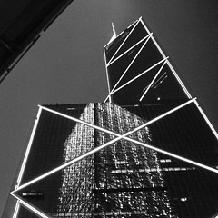 我的香港夜 (╮(╯_╰)╭...) Tags: film me night dark hongkong blackwhite fuji pentax grain 400 pro cropped 135 香港 limited fa f19 43mm
