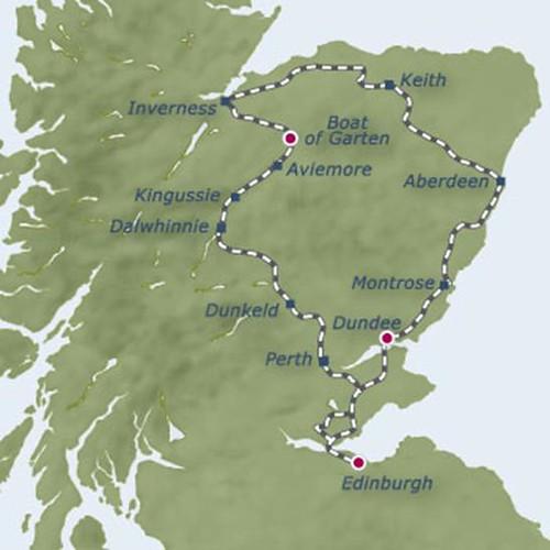 The Royal Scotsman - Highland Tour (2 nights) map