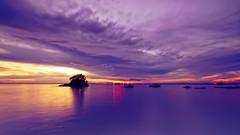#850C7658- Still waters and moving clouds II (Zoemies...) Tags: sunset beach clouds moving still waters hdr slowshutterspeed balikpapan melawai zoemies