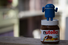 Nutella and Android .. (pankaj.anand) Tags: breakfast canon master chef nutella android amul samsungmobile 550d pankajanand nutellaandandroid indiamaster indiastupid addspankajanand18