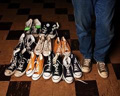 Chuck Obsession (Studio d'Xavier) Tags: sneakers collections converse 365 chucks chucktaylors cliche allstars hcs 365days strobist werehere 351365 happyclichesaturday 3652011 december172011