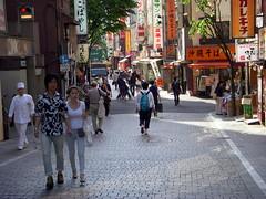 shinjuku afternoon (kexi) Tags: street people japan tokyo nikon shinjuku asia may sunny pedestrian coolpix 2010 instantfave