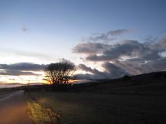 Dawn in Oinoi (Vagelis Pikoulas) Tags: morning winter light sky sun car clouds sunrise canon landscape dawn niceshot view greece vilia mygearandme sx210is ringexcellence