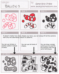 Tangle: Ballons (Amaryllis Creations) Tags: pattern tangle penink zentangle
