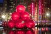 Happy Holidays from NYC: Ornaments outside the Exxon Building on 50th Street (RBudhu) Tags: christmas newyorkcity ornaments gothamist happyholidays radiocitymusichall 50thstreet exxonbuilding