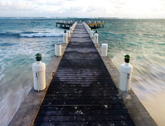Tides (Lissa**) Tags: ocean water island pier movement waves cayman grandcayman