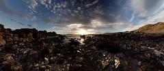 Late December sun (PC225274) (Mel Stephens) Tags: uk panorama seascape geotagged coast scotland rocks december aberdeenshire panoramic coastal gps scape stitched hdr cloudporn newburgh ptgui 2011 aberdonia forvie