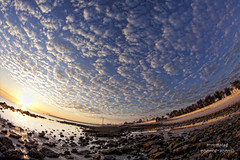 Fintas seaside in fisheye (mynameismyk) Tags: clouds canon seaside fisheye kuwait fintas