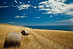 Sellicks Hill Bales (James Yu Photography) Tags: ocean longexposure sky cloud photography james seascapes 5 hill australia adelaide years another sa hay bales southaustralia sellicks australiabeach 500px flickraward bestcapturesaoi flickraward5 ringexcellence