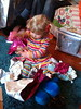 Ada opens some early presents