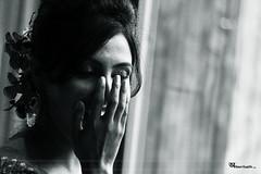 (the shy one) (Wasif Ahmad) Tags: blackandwhite bw woman girl monochrome smile lady shy laugh bnw shyness lajuk