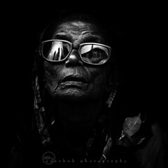 Blind and Stark (ayashok photography) Tags: old portrait people bw india blackwhite nikon blind indian madras streetphotography streetportrait monotone dude oldwoman aged chennai bnw tamilnadu 1x1 highcourt parryscorner nikkor85mm oldmadras ayashok nikond300 dsc6956v3
