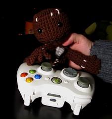 Sack Boy (Bobbeyjazz) Tags: doll handmade crochet videogame amigurumi littlebigplanet sackboy geekcraft