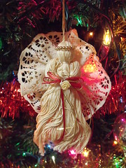 Angel New3 (g33k<3) Tags: christmas food peach ornament kitties pudge firstuploads
