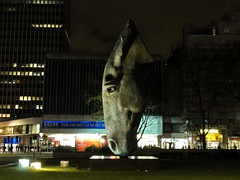 'Horse at Water', at Marble Arch, London (Odddutch) Tags: uk england london art english statue night geotagged nacht britain kunst great british sculpter equestrian sculptor engeland beeld albion londen paard londonist vk grootbrittannië paardenhoofd