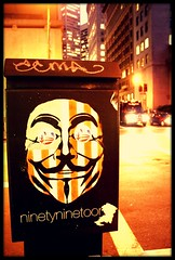 Anonymous in San Francisco? (Hctor R. Zamora A.) Tags: sanfrancisco st wall protest anonymous vendetta occupy protestmovement occupywallst occupywall