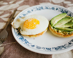 How I Started 2012 (Kim // www.kmillerphotographs.com) Tags: food breakfast avocado pdx friedegg portlandor creamcheese pesto parmesan englishmuffin 2012 glutenfree nikkor28mmf28 nikond700