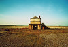 (Max Nathan) Tags: blue autumn red sea england sky house abandoned film nature yellow warning site suffolk xpro sand military wwii spit infiltration gr1s ricoh orford orfordness awre cobramist atomicweaponsresearchestablishment