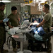 Hospital corpsmen address simulated casualties