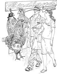 Birdland (faith goble) Tags: sf fiction art television birds glasses washington uniform hawk kentucky ky faith satire alien apocalypse cellphone science cc congress purse doctor creativecommons falcon hood technician nurse hen emp spec utopia bowlinggreen ai futuristic stethoscope senate linedrawing talkradio peregrine scrubs dystopia adobeillustrator lodestar clipboard realityshow russianspy goble faradaycage electromagneticpulse faithgoble bewilderingstories gographix attackonearth faithgobleart