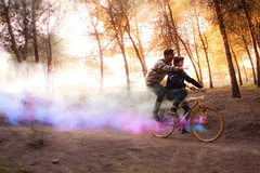 Better than videogames (Quique Maas) Tags: color colors bike forest golden smoke bicicleta que videogames bosque than humo better mejor videojuegos dorada