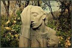 ~War Mother~ (   giamarie  ) Tags: sculpture austin framed tweaked grief despondent charlesumlauf andthatsagoodthing warmother caststone charlesumlaufsculptor umlaufsculpturegardenandmuseum thissculpturewontletmego